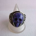 USED ITEM・Lee Downey  Skull Ring-charoite size:#16【太田店】