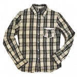 USED ITEM・wjk  madras check leather-pocket shirts  size:M【太田店】