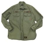 USED ITEM・W)taps  ヘリンボーンミリタリーシャツ size:S【太田店】