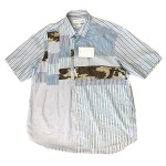 USED ITEM・COMME des GARCONS SHIRT  パッチワーク半袖シャツ size:S【太田店】