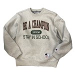 USED ITEM・Supreme  x  CHAMPION  STAY IN SCHOOL  CREWNECK   size:M【那須塩原店】